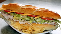 Sub with chips